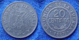 BOLIVIA - 20 Centavos 1987 KM# 203 Monetary Reform (1987) - Edelweiss Coins - Bolivie