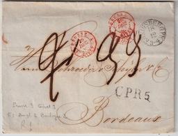 1846, 2 Entrees Different, Par Ereur!! , #a1532 - Storia Postale