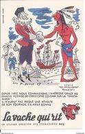 Buvard - La Vache Qui Rit - Série Les Découvertes Buvard N° 1 / CHRISTOPHE COLOMB - Produits Laitiers
