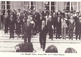 Le Monde Vécu  Carte Numérotée 451 10 Mai 1981 Le 1er Cabinet Maurois - Histoire