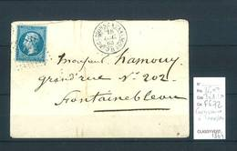 Lettre Ambulant Carcassonne à Tarascon 1864 - Poststempel (Briefe)
