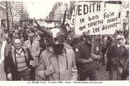 Le Monde Vécu  Carte Numérotée 299 23 Mars 1982 Paris Manifestation Des Paysans - Histoire