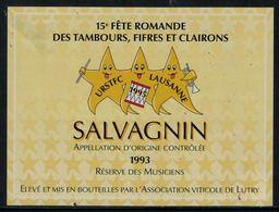 Rare // Etiquette De Vin // Musique // Salvagnin, Réserve Des Musiciens, Fête Romande Des Tambours, Fifres Et Clairons - Musique
