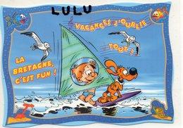 BANDES DESSINÉES 1 : Boule Et Bill En Vacances , La Bretagne C Est Fun  ; ( Planche A Voile ) Coll. Cartoon - Bandes Dessinées