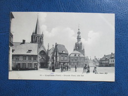 CPA 59 COMINES GRANDE PLACE COTE EST ANIMEE - France
