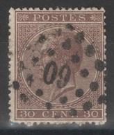 Belgique - YT 19 Oblitéré 60 - 1865-1866 Linksprofil