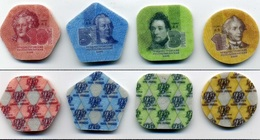 Transnistria PMR 2014 Set Of 4 Plastic Coins - 1, 3, 5, 10 ROUBLES Rbl Rubles - Russland