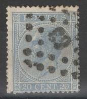 Belgique - YT 18a Oblitéré 63 - 1865-1866 Linksprofil