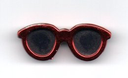 Broche Lunette Rouge - Broches