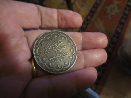 TURQUIE - EMPIRE OTTOMAN - 20 KURUS -1327- METAL ARGENT - SUP- VOIR PHOTOS - Turquie