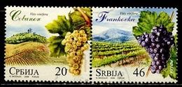 Serbie - Serbia - Serbien 2008 Y&T N°253 Et 255 - Michel N°260 Et 262 (o) - Vignobles Serbes Se Tenant - Serbie