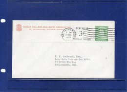##(DAN1812)-Postal History-Canada 1965 - Private Printed Postal Stationery New Value 3c On 2c From St.Catharines - 1953-.... Regno Di Elizabeth II