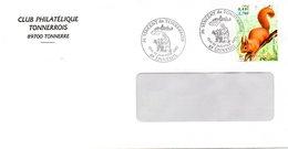 Lettre  Avec Cachet Commémoratif St Vincent Du Tonnerrois à EPINEUIL (89) Le 19 & 20/01/02 - Vins & Alcools