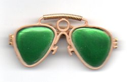 Broche Lunette Dorée Style Rayban - Broches