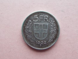 5 FRANCS HELVETIE. 1932B  ARGENT - Switzerland