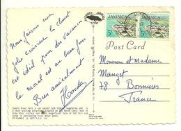 JAMAICA - 5c OIL REFINERY Sur CARTE POSTALE DUNN'S RIVER FALLS - Jamaica (1962-...)