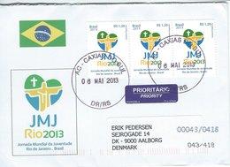 Brazil - Cover Sent To Denmark 2013. H-1418 - Brazil