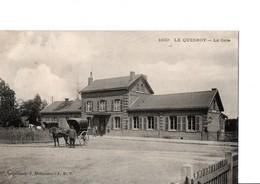 1100. LE QUESNOY  -  La Gare. Belle CPA Animée, Carriole, Cheval, En Très Bon état. Voir SCAN. - Le Quesnoy