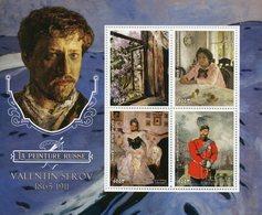 Benin 2018 MNH Valentin Serov Russian Painter 4v M/S Portraits Russian Art Paintings Stamps - Art