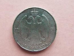 50 DINARS ARGENT. 1938. PIERRE II - Yougoslavie