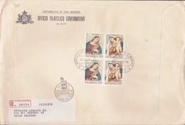 San Marino 1976  - FDC AASFN Natale Raccomandata. - FDC