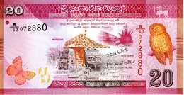 SRI LANKA - Central Bank Of Sri Lanka - 20 Rupees 01-01-2010 - Série W/163 - 072880 - P. 123a - UNC - Sri Lanka