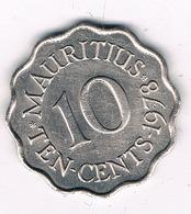 10 CENTS 1978 MAURITIUS /8420/ - Maurice