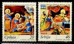 Serbie - Serbia - Serbien 2008 Y&T N°261 à 262 - Michel N°268 à 269 (o) - Série Noël - Serbie