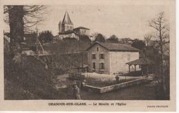 87 ORADOUR-SUR-GLANE  LE MOULIN ET L'EGLISE - Oradour Sur Glane