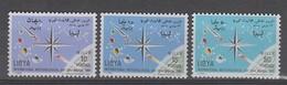 SERIE NEUVE DE LIBYE - JOURNEE METEOROLOGIQUE MONDIALE N° Y&T 264 A 266 - Climat & Météorologie