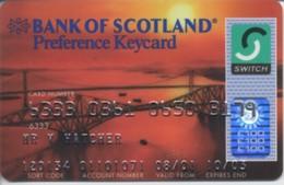 """UK Bank Of Scotland / Switch """"Bridge"""" - Cartes De Crédit (expiration Min. 10 Ans)"""