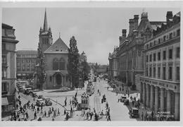 LAUSANNE  → Place St.Francois Avec Le Oldtimer Et Tram, Ca.1950 - VD Waadt