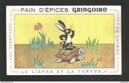 PAIN D EPICES GRINGOIRE / LIEVRE ET LA TORTUE N 4 - Alimentaire
