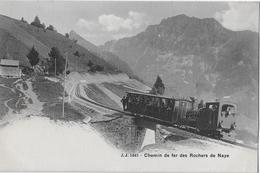 CHEMIN DE FER DES ROCHERS DE NAYE → Train à Vapeur CompletCA.1900 - VD Vaud
