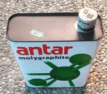 ANTAR MOLYGRAPHITE    Bidon D'huile Ancien En Tole - Voitures