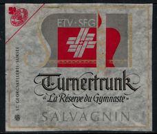 Rare // Etiquette De Vin // Gymnastique // Salvagnin, La Réserve Du Gymnaste - Etiquettes