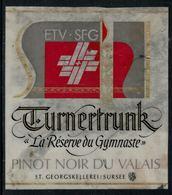 Rare // Etiquette De Vin // Gymnastique // Pinot Noir, La Réserve Du Gymnaste - Etiquettes