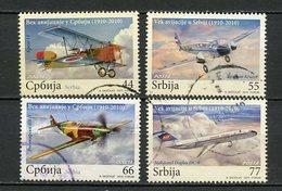 Serbie - Serbia - Serbien 2010 Y&T N°374 à 377 - Michel N°381 à 384 (o) - Série Aéronautique Serbe - Serbie