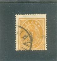1882 ISLANDE Y & T N°  12B ( O ) Série Courante 2ème Choix - Oblitérés