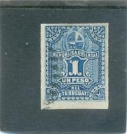 1877 URUGUAY Y & T N° 44 ( O ) 1 Peso - Uruguay
