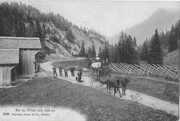COL DU PILLON  → Diligence Avec Beaucoup De Passants Anno 1911   ►RRR◄ - VD Vaud