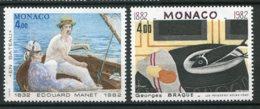 10064  MONACO  N° 1347/48**  Les Arts : Anniversaires De Naissance D'artistes Célèbres  1982  TB/TTB - Neufs