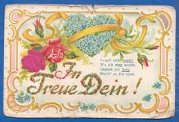 Blumen; Fleurs; Art Nouveau; Prägekarte; Gaufrée; Vergiss Mein Nicht - Blumen