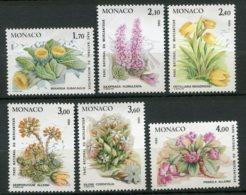 10071  MONACO  N° 1461/6** Plantes Du Parc National Du Mercantour   1985  TB/TTB - Neufs