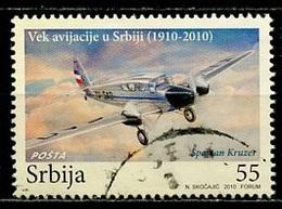 Serbie - Serbia - Serbien 2010 Y&T N°376 - Michel N°383 (o) - 66d Avion De Chasse - Serbie