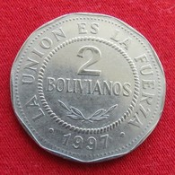 Bolivia 2 Bolivianos 1997 KM# 206.2  Bolivie - Bolivie
