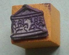 Dessin, Manège, Fête Foraine, Chevaux De Bois - Tampon Scolaire, Petit Cube - French Rubber Stamp, School - Loisirs Créatifs