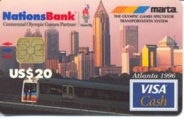 USA Nations Bank / Atlanta 1996  Olympic Games / Visa Cash $20 / Quantity=70,000ex - Cartes De Crédit (expiration Min. 10 Ans)