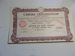 CINEMA EXPLOITATION (1948) - Unclassified