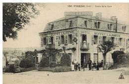 Figeac:sortie De Gare, Hôtel Lajoinie, Animation - Figeac